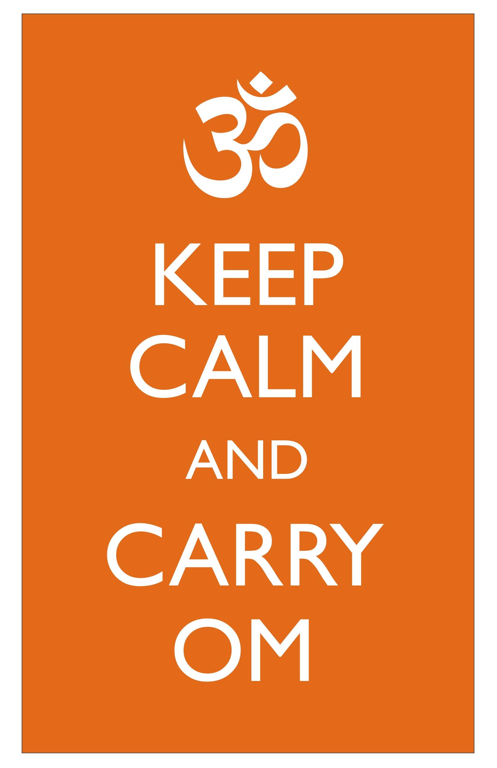 Keep Calm and Carry Om-Subway Art – Om She Said