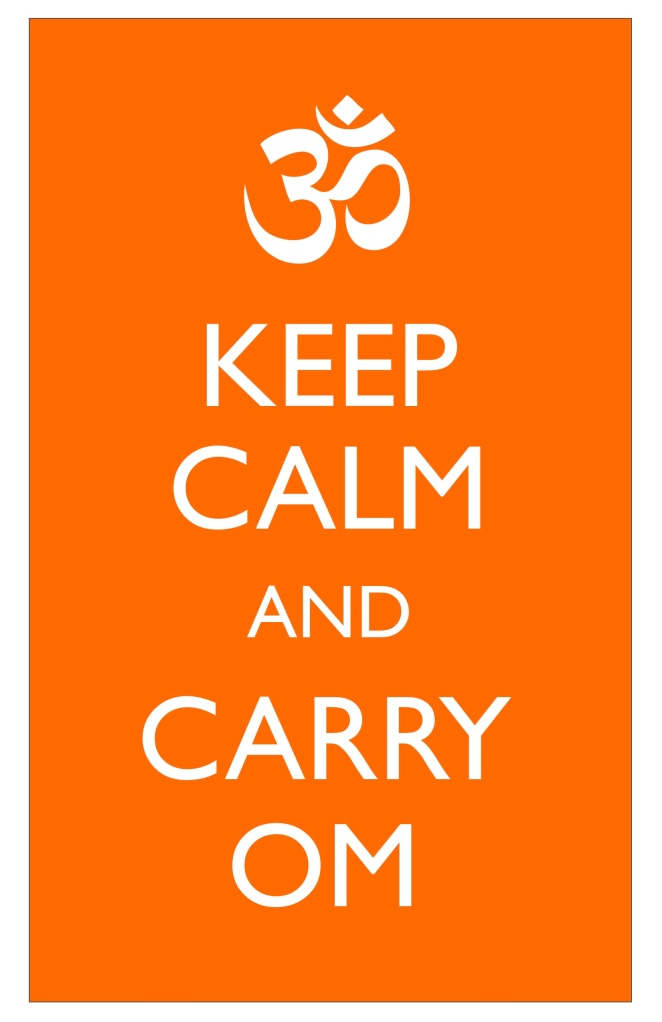 Keep Calm and Carry Om-Subway Art